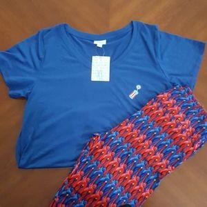 NWT LuLaRoe Patriotic outfit
